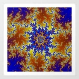 Fractal Checkerboard Art Print