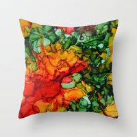 marley Throw Pillows featuring Marley by Claire Day