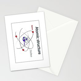 Atomic structure Stationery Cards