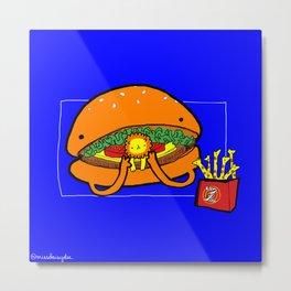 Food Series - Burger Metal Print