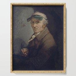 Anton Graff - Self-Portrait with Eye-Shade (1813) Serving Tray
