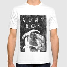 Goat Boy White Mens Fitted Tee MEDIUM