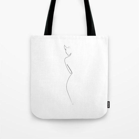 One line Nude on White by quibe