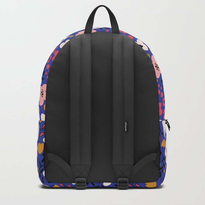 Flowers on blue Backpack