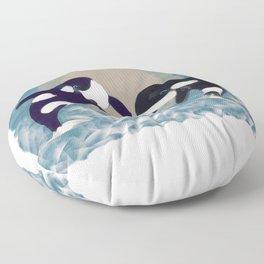 Whale dance Floor Pillow