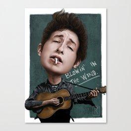 Young Bob Dylan Canvas Print