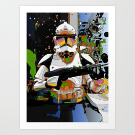 Funky Trooper Art Print