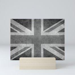 Union Jack Vintage 3:5 grayscale Mini Art Print