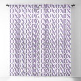 Purple XOXO Sheer Curtain