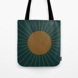 Minimal Sunrays - Teal Tote Bag