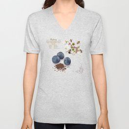 Blueberry and Pollinators Unisex V-Neck