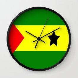 Flag of São Tomé and Príncipe Wall Clock