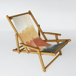 Abstract in Rust n Clay Sling Chair