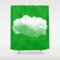 cloud Shower Curtains featuring Cloud by Mr and Mrs Quirynen