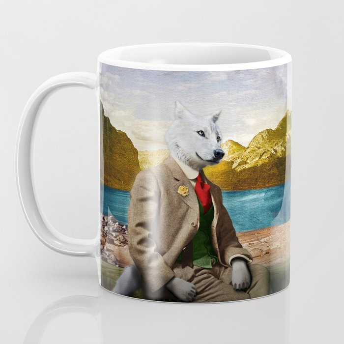 Mr. Wolf Relaxing at the Lake Coffee Mug