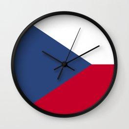 Czech Republic flag emblem Wall Clock