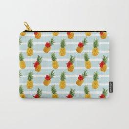 Hawaiian Summer Pineapple Seamless Pattern Carry-All Pouch