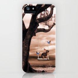 Woodland swing iPhone Case