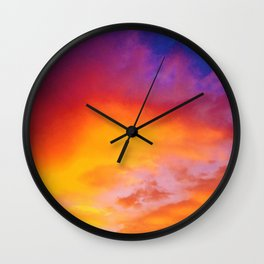 Sky Ablaze Wall Clock