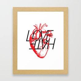 LOVE  –VS– HATE Framed Art Print