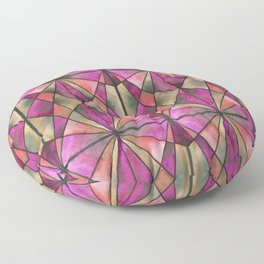 Stained Glass - Magenta Floor Pillow
