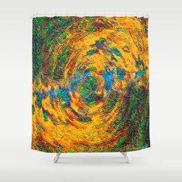 Split Hemispheres Shower Curtain