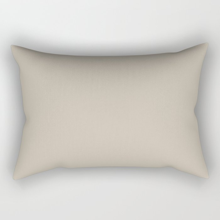 Sherwin Williams Trending Colors of 2019 Shiitake (Light Beige, Brown) SW 9173 Solid Color Rectangular Pillow