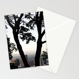 """""""Between the Trees"""" - Montreal Skyline Stationery Cards"""