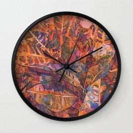 Tropical Greens Twilight Wall Clock