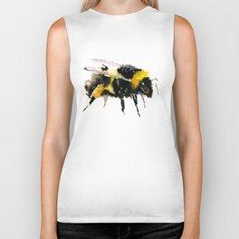 Bumblebee, bee art, bee design, minimalist bee honey Biker Tank