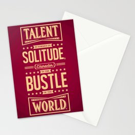 Lab No. 4 Talent Is Formed Johann Goethe Life Motivational Quotes Stationery Cards