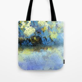 Bright Blue and Golden Pond Tote Bag