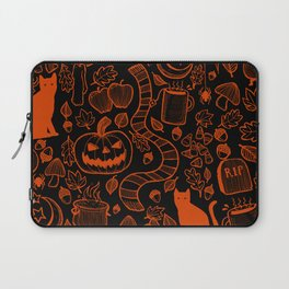 October Pattern- Orange & Black Laptop Sleeve