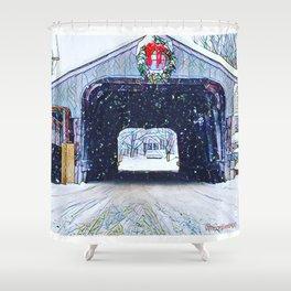 Vermont Covered Bridge Sugabush Shower Curtain