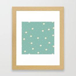 Cute Blue Pattern Framed Art Print