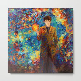 10th Doctor with screwdriver abstract art Metal Print