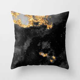 100 Starry Nebulas in Space Black and White 105 (Portrait) Throw Pillow