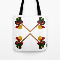 duck Tote Bags featuring duck by Кaterina Кalinich