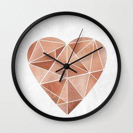Mosaic Heart Wall Clock