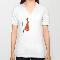 bauhaus V-neck T-shirts featuring Women Bauhaus by Addison Karl