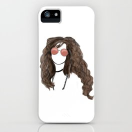 Janis Rock Icon Silhouette iPhone Case