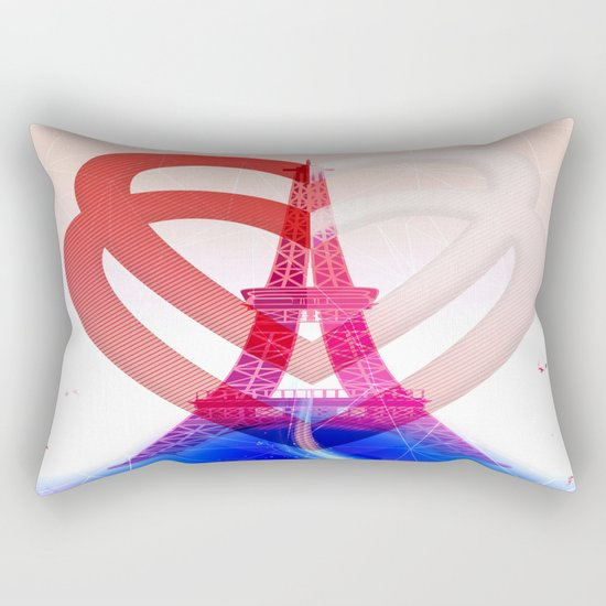 PARIS LOVE Rectangular Pillow