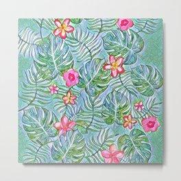 Exotic Floral Design Metal Print