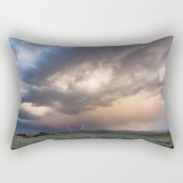 Yellowstone National Park - Sunset storm over the Washburn Range Rectangular Pillow