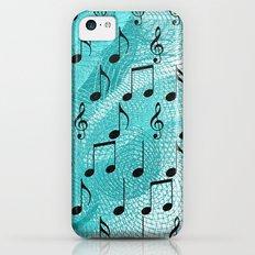 Music notes iPhone 5c Slim Case