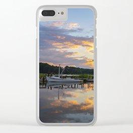Sunset on Jones Creek Clear iPhone Case