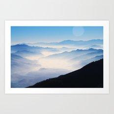 Inhale Art Print