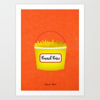 french fries Art Prints featuring French Fries by madeforending