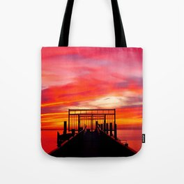 Gated Sunset Tote Bag