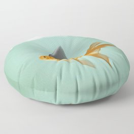 Goldfish with a Shark Fin (under a cloud) Floor Pillow